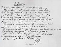 edgar allan poe handwriting analysis edgar allan poe s handwriting