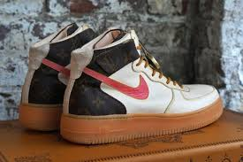 louis vuitton air force ones. a nike air force 1 custom with some louis vuitton heritage ones c