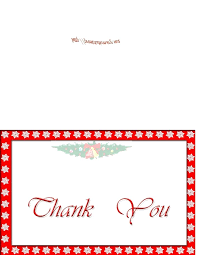 Free Thank You Card Template Thank You Card For Word Free Card