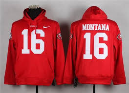 Top Quality Red In Discount 49ers San Francisco Sale Big 16 Montana Hoodie Joe Pullover