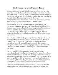 Entrepreneurship Sample Essay An Entrepreneur Is Individual
