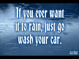 Car Wash Quotes Car Wash and Rain on MyQuoty 50