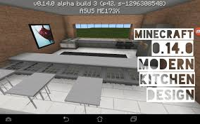 Minecraft Modern Kitchen Mcpe Modern Kitchen Design 0140 Build 3 Download Youtube