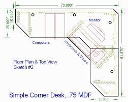 corner computer desk plans free