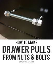 How to make drawer pulls from nuts & bolts