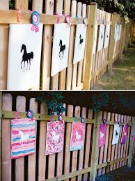 artistic ombre watercolor horse birthday party