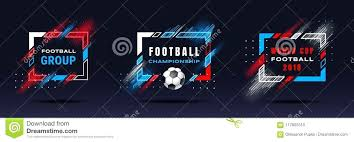 soccer frames football cup championship ilration vector with dynamic lines isolated on photo