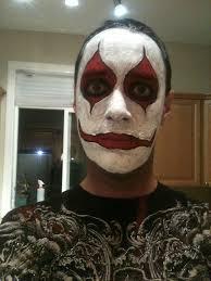 male vire makeup via evil clown ideas