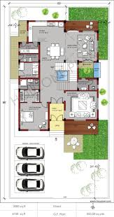duplex house plan by houzone com