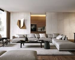 Large modern dark wood floor living room idea in New York with no tv