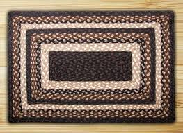 mocha frappuccino rectangle braided rug