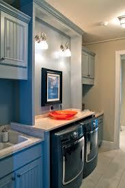 Decorations:Elegant Laundry Room Lighting Ideas With Dark Blue Color Scheme  Interior Design Cool Color