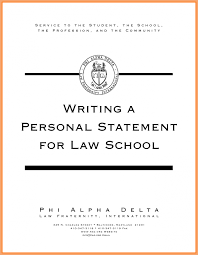 Law School Personal Statement Format Good Resume Examples