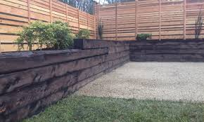 landscape timbers retaining wall steps installing landscape timbers retaining wall
