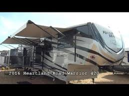 new 2016 heartland rv road warrior 420 mount fort rv