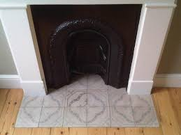grey antique fireplace tiles decorative hearth tiles