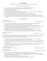 Resume For Tax Accountant Perfect Resume