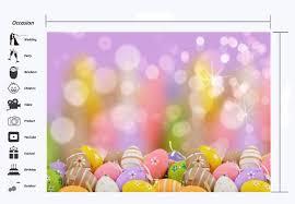 Eggs Hunt Vinyl Backdrops Bokeh Sequins Wallpaper Spring