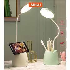 Đèn học để bàn có ánh sáng vàng chống cận thị sạc pin tích điện pin 4000mAh  tăng giảm được độ sáng MIGU.VN - Đèn bàn Thương hiệu OEM