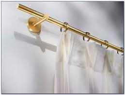 brass curtain rod ends