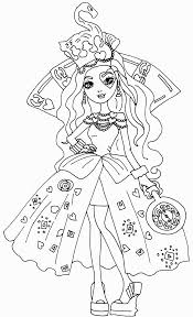 Free Printable Ever After High Coloring Pages: Lizzie Hearts Way ...