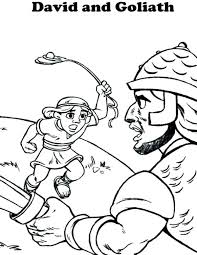 David And Goliath Coloring Page And Coloring Pages Page Sheet For