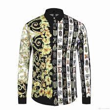 Yellow Designer Shirt Mens 2019 19ss Summer New Baroque Designer Shirt Mens Gold Social Club Shirt Slim Yellow Mens Camisa Masculina From Fendishirt 27 42 Dhgate Com