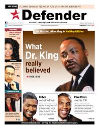 Houston Defender: January 16, 2014 by Defender Media Group |DefenderNetwork  - issuu