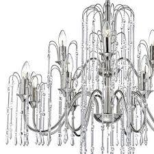 12 light waterfall chandelier polished nickel