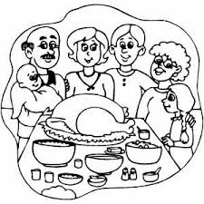 Small Picture Thanksgiving Dinner Coloring Page