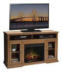 rustic style tv stand cabinet featuring electric fireplace insert