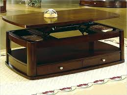 cream and wood coffee table round that converts to dining convertible combination