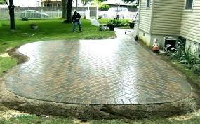 brick per square foot lovely patio cost or brick patio ideas and cost concrete