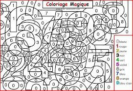 Coloriage Magique Pour Les Plus Petits Les Chiffres Color By