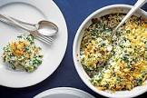 baked spinach lemon rice