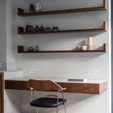 Office modern design Black Home Office Small Modern Builtin Desk Concrete Floor And Gray Floor Home Office Houzz 75 Most Popular Modern Home Office Design Ideas For 2019 Stylish