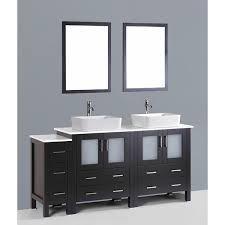 mirror contemporary 72 inch espresso double rectangular vessel sink vanity