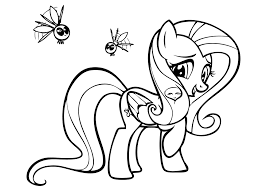 my little pony coloring pages fluttershy colouring to beatiful draw