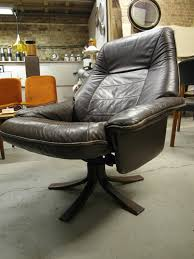 norwegian vintage office chair. Vintage Scandinavian Brown Leather Reclining Swivel Chair £295 SOLD Norwegian Office N
