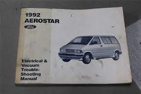 ford ranger truck oem electrical wiring diagrams service 1992 ford aerostar electrical wiring diagrams service manual dealer book evtm