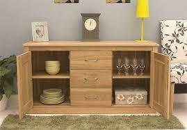 baumhaus mobel solid oak large sideboard cupboard with drawers second cor02a baumhaus mobel solid oak drawer