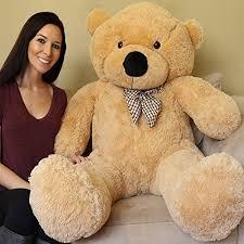 Yesbears-Giant-Teddy-Bear-5-Feet-Tan-Color- Yesbears Giant Teddy Bear 5 Feet Tan Color (Ultra-Soft) | Hobby