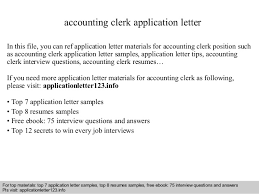 Sample Accounts Receivable Clerk Cover Letter Application Letter For Accounts Clerk Salud Ilunion Com