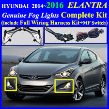 2014~2016 hyundai elantra fog light lamp complete kit wiring item condition new