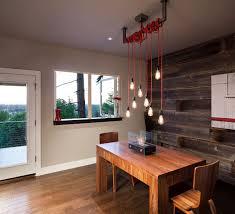 image of modern rustic lighting design