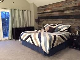 reclaimed wood accent wall bedroom residential projects