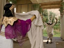 Image result for joseph running away from potiphar's wife,