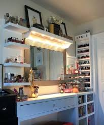 diy makeup vanity table. Diy Makeup Vanity Lights Extraordinary With And Mirror Drawers Table L