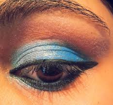 tip if you feel like the lighter side of the eye shadow is not too visible or has blended into the darker shade then dab on some silver or white eye