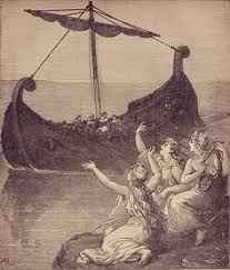 siren drawing the sirens imploring ulysses to stay by english